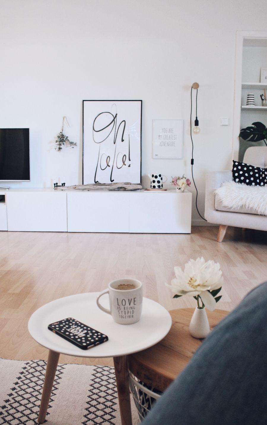Neue Wandfarbe Von Schoner Wohnen Und Ein Schnelles Diy Schoner Wohnen Wandfarbe Diy Wohnzimmer Schoner Wohnen