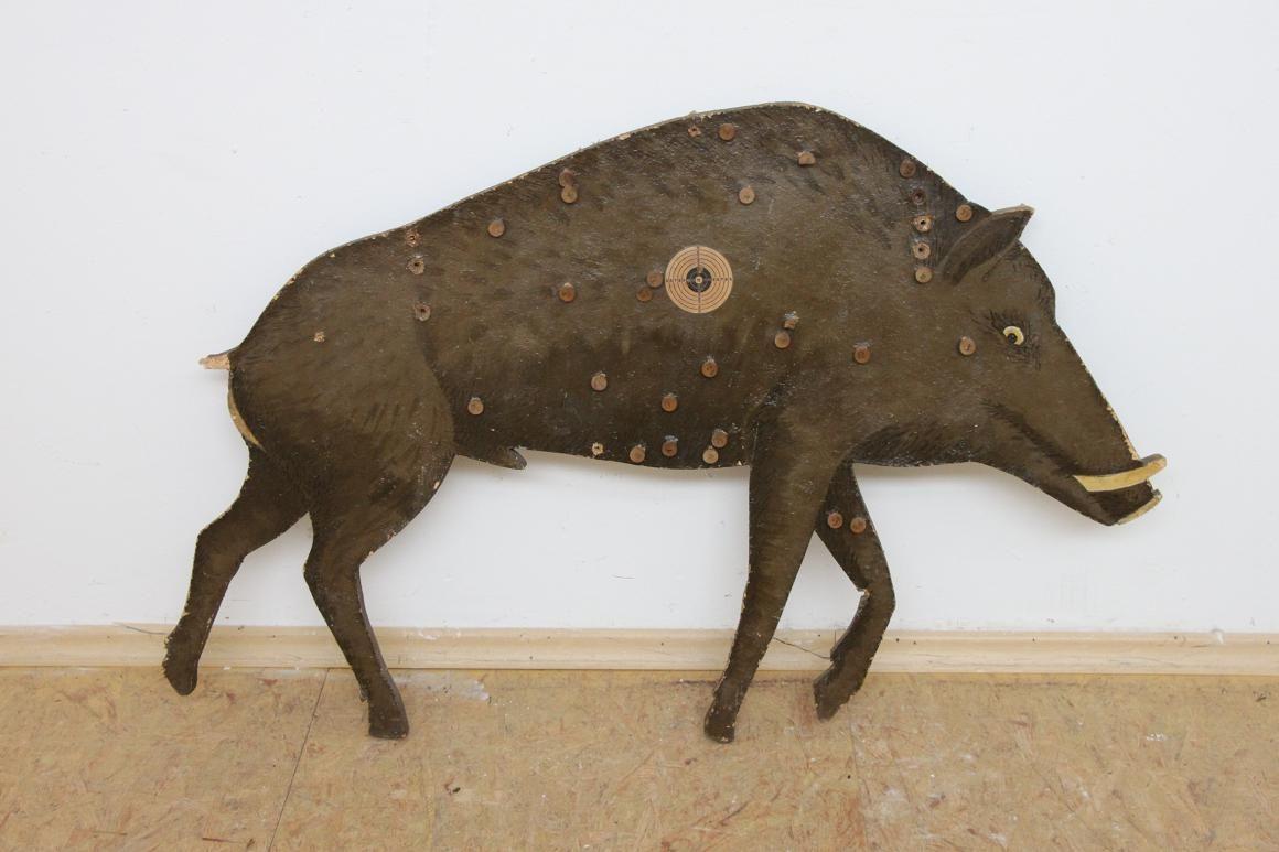 Gro e wildschwein zielscheibe sch tzenscheibe aus holz 50 for Grosse esszimmertische aus holz