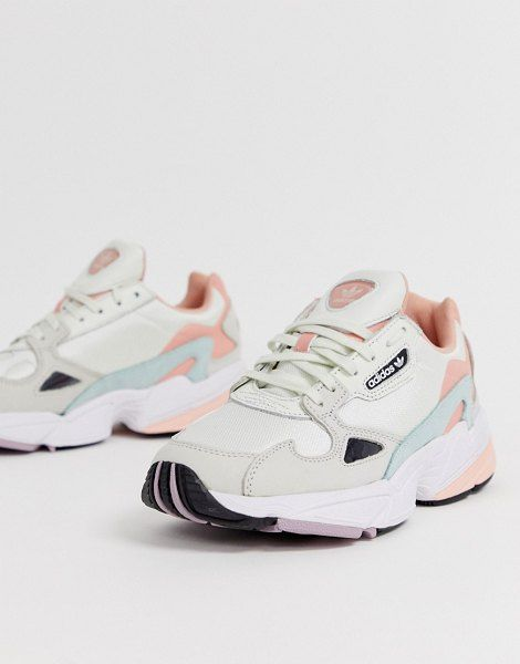 adidas Originals Falcon Sneakers In Cream And Pink