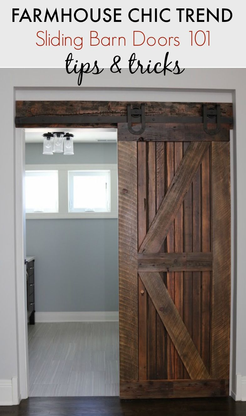 Farmhouse Chic Sliding Barn Doors Charms Trends And Rustic