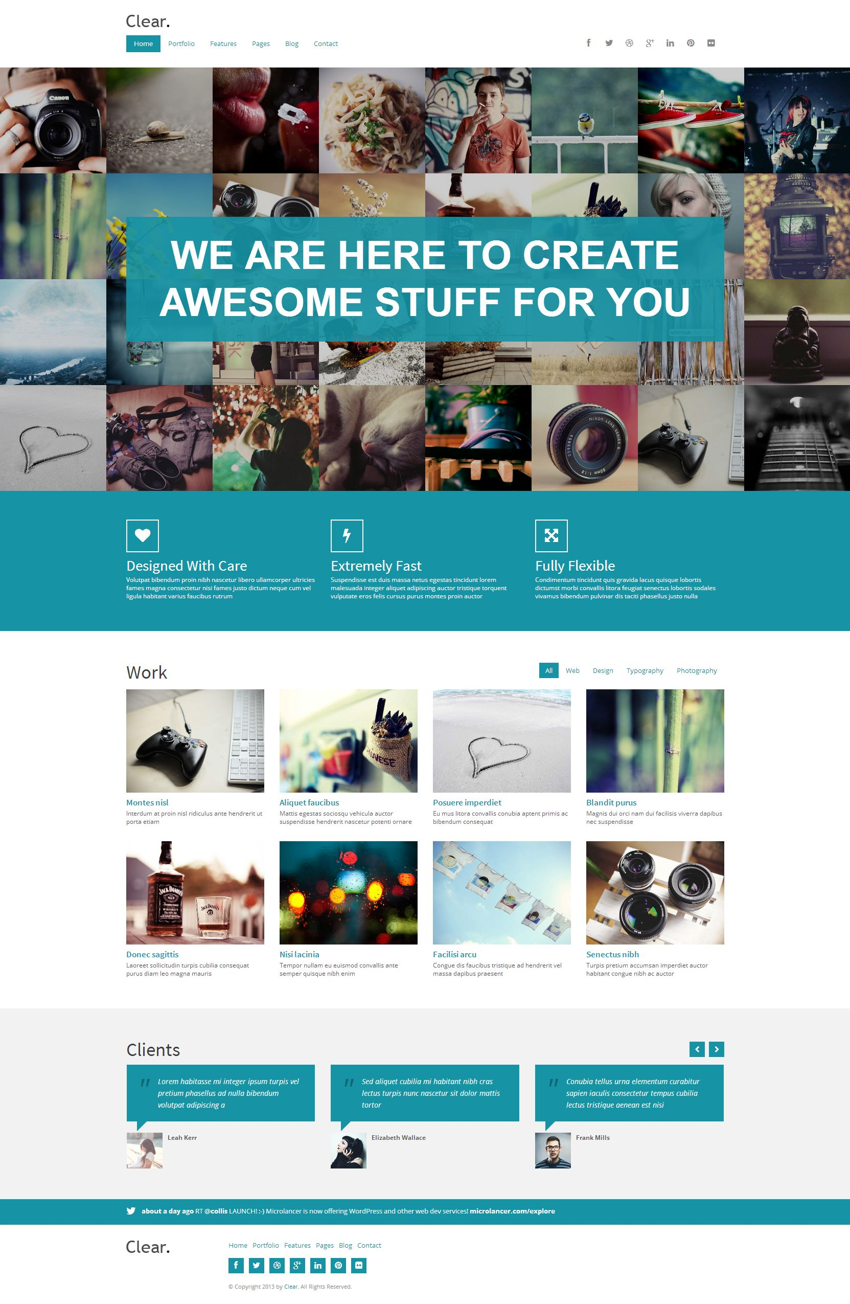 Clear Professional Html5 Creative Template Web Store