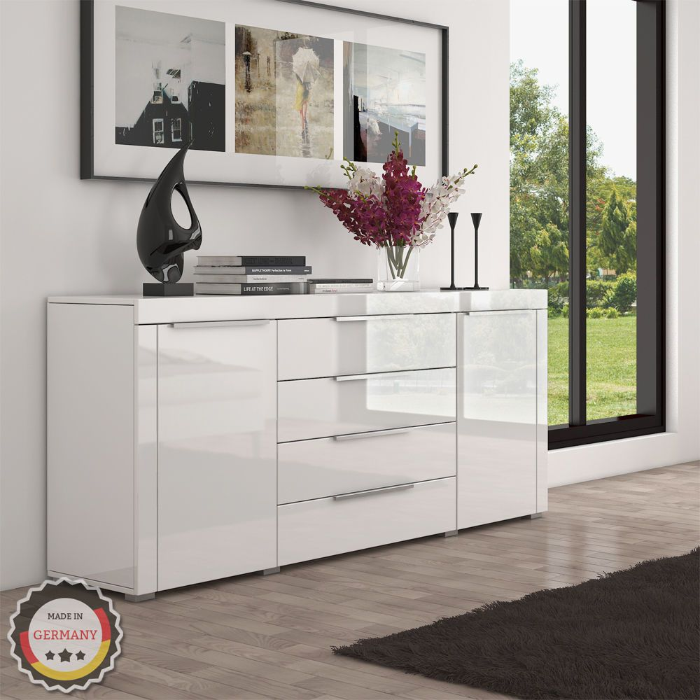 highboard sideboard kommode schrank m bel hochglanz wei 167 x 72 x 35 cm esszimmer. Black Bedroom Furniture Sets. Home Design Ideas
