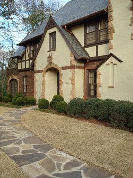 Placement Of Stone Is Neat Light Brick And Stone Exterior Design Ideas Pictures Remodel And Decor Page Tudor Style Homes Traditional Exterior Tudor House