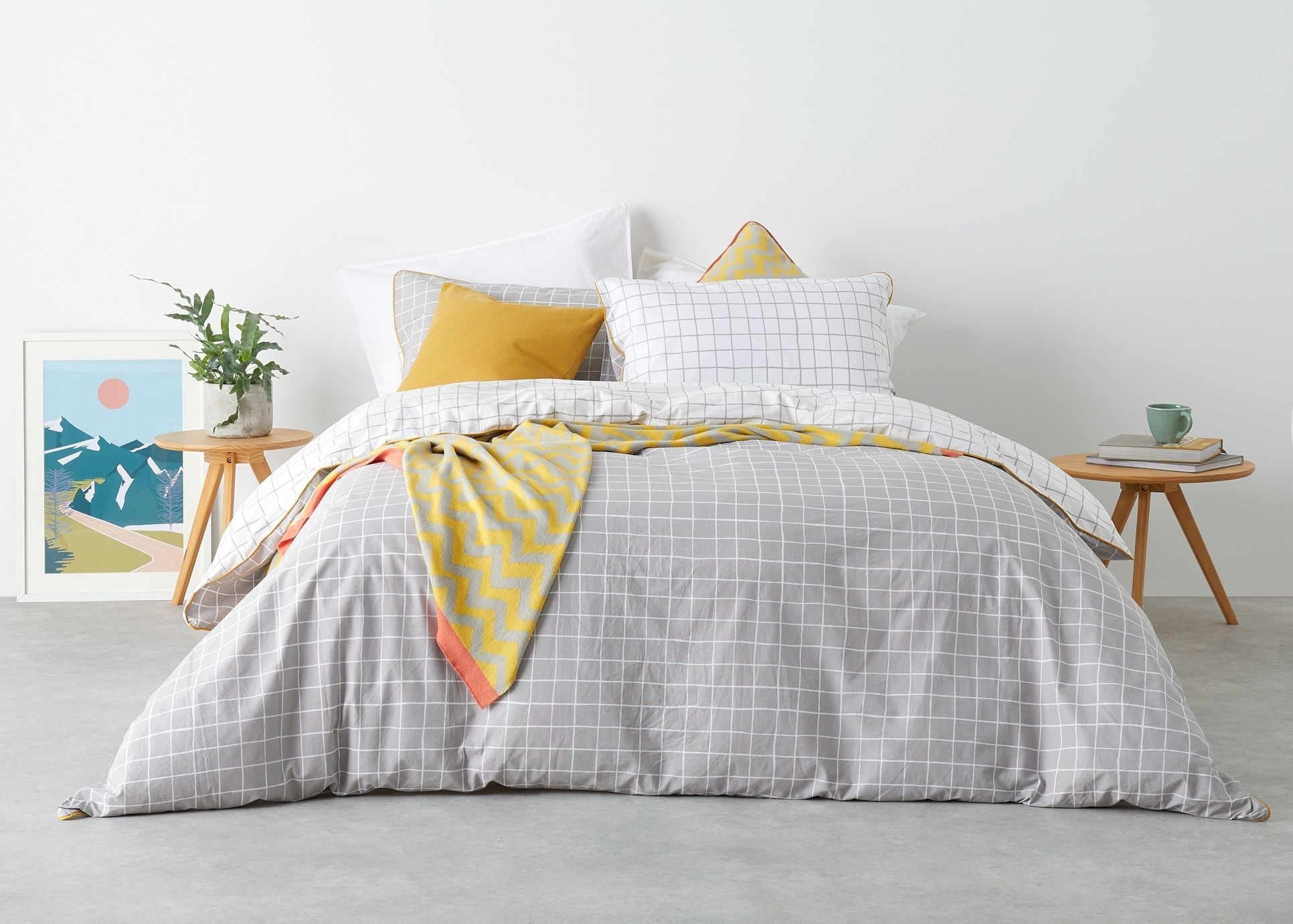 Ludo King 100 Cotton 200 T C Bed Set Grey White Uk From Made Com Express Delivery Grid Bedding Bedding Sets Cotton Duvet Cover Affordable Bedding Sets