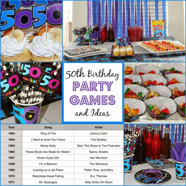 One of my favorite 50th birthday party games and other great party