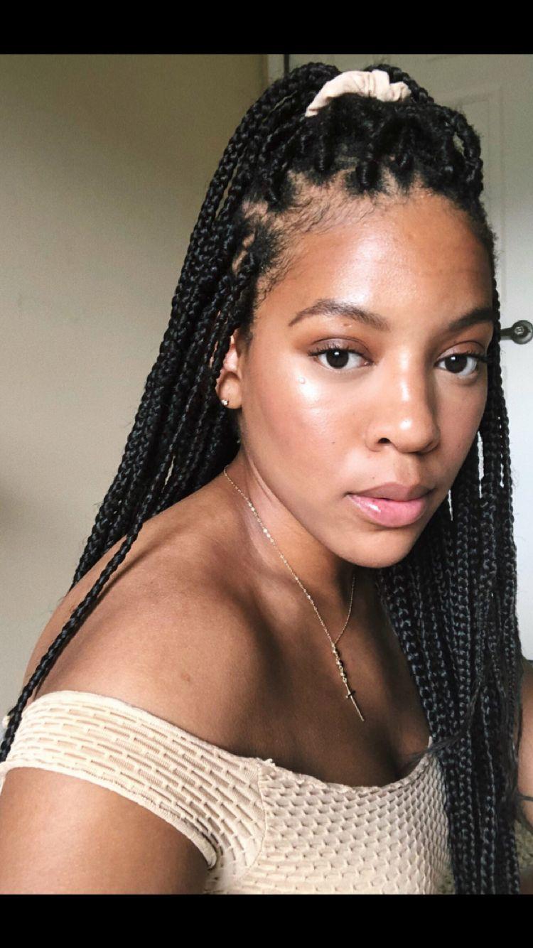 Box braids | Hair styles, Box braids, Braids