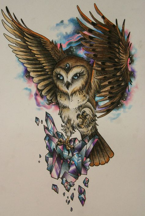 10 Mysterious Owl Tattoo Designs Meanings Hiboux Pinterest