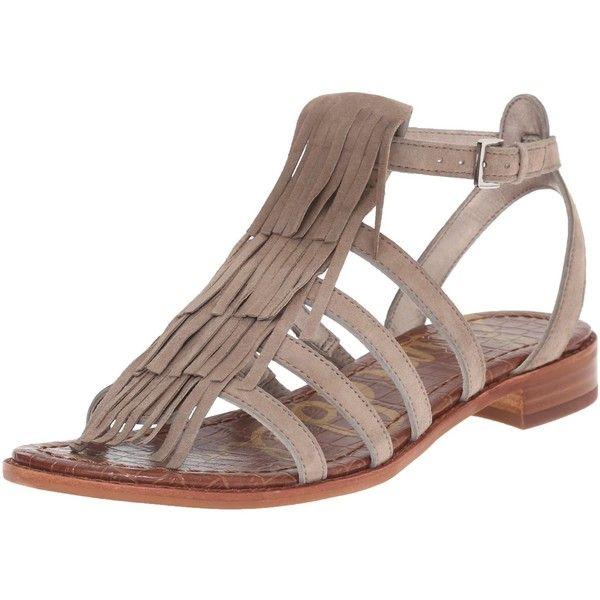 7427156de60d6f Sam Edelman Women s Estelle Flat Sandal ( 110) ❤ liked on Polyvore  featuring shoes