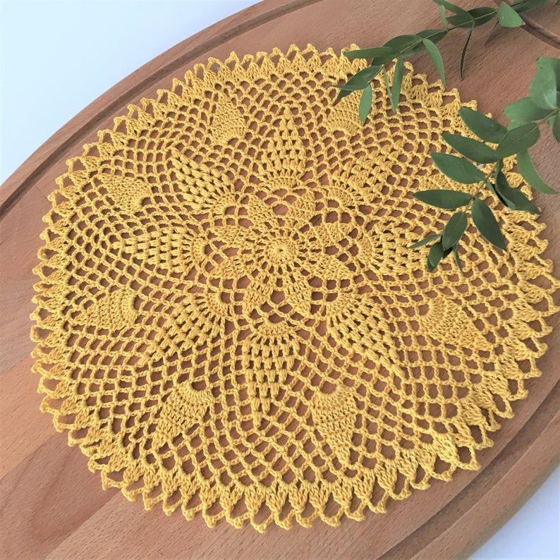 Easter gifts for adults Elegant pineapple crochet lace doily #crochet #centerpiece #doily #doilycrochet #tablerunners #tabletoppers #napkins #tabledecor #kitchenaccessories #homedecor #homedecorideas #giftsformom #motherday #motherdaygifts #handmadegifts #giftsforhomedecoration #allegrettahandmade #etsy #etsyshop #etsyshopping #easter gifts for adults house Easter gifts for adults, Elegant pineapple crochet lace doily for sale, Handmade centerpiece, Cotton crochet napkins, Home decor  10 inch