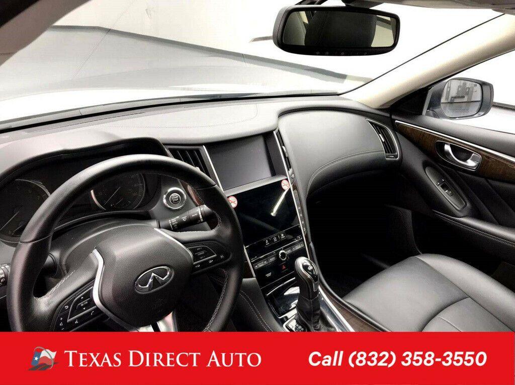 Used 2019 Infiniti Q50 3 0t Luxe Texas Direct Auto 2019 3 0t Luxe Used Turbo 3l V6 24v Automatic Awd Sedan 2020 In 2020 Awd Infiniti Sedan