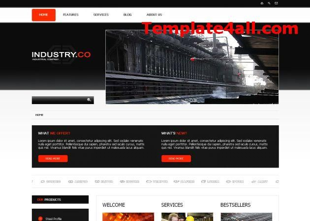 Grunge Responsive Red Black Business Joomla Theme Joomla Responsive Webdesign In 2020 Joomla Templates Website Template Design Black And Red