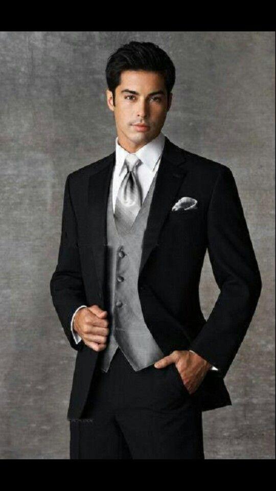 Black and Gray Tux Neck Tie   Tux   Pinterest   Gray tux