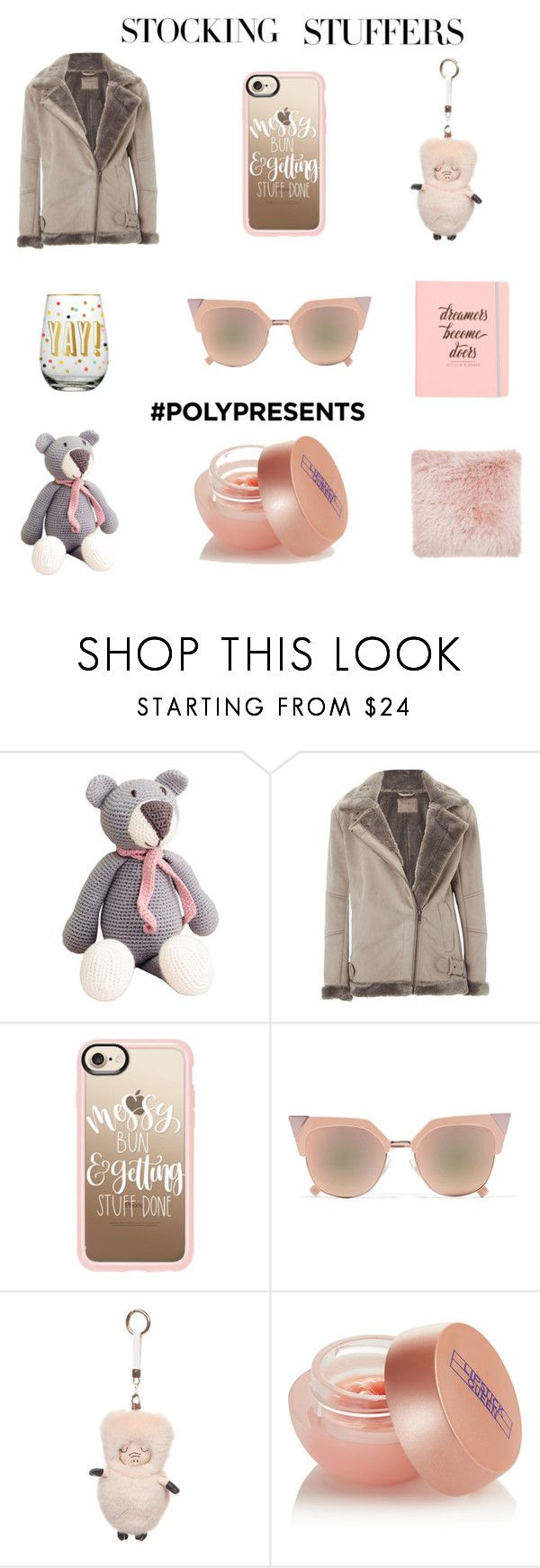 """""""#PolyPresents: Stocking Stuffers"""" by ladylly ❤ liked on Polyvore featuring White Stuff, Casetify, Fendi, FRR, Lipstick Queen, contestentry and polyPresents"""