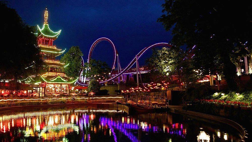 Tivoli Gardens is an amusement park that is very beautiful ...