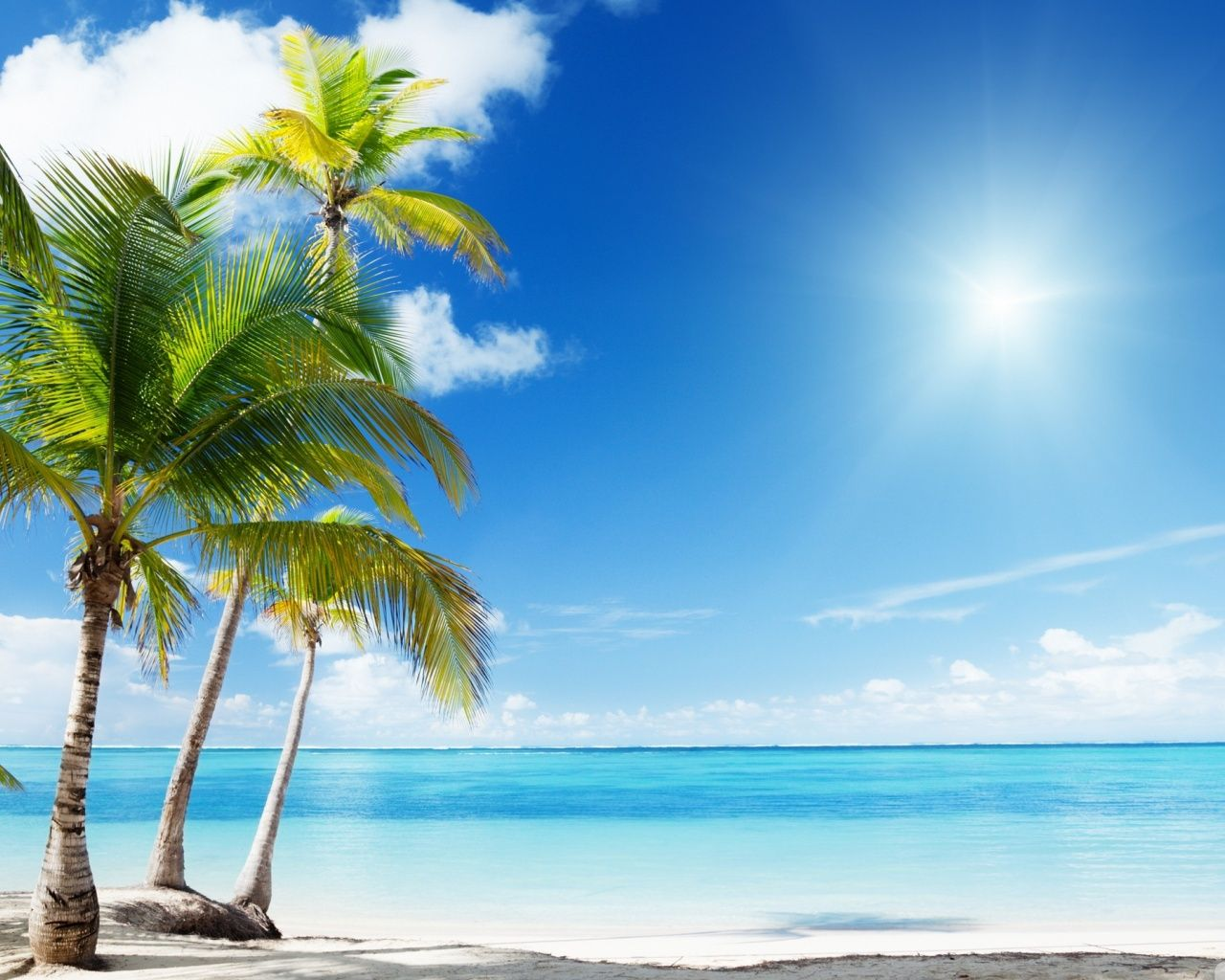 Hd Tropical Island Beach Paradise Wallpapers And Backgrounds: 1280x1024 Tropical Beach Desktop PC And