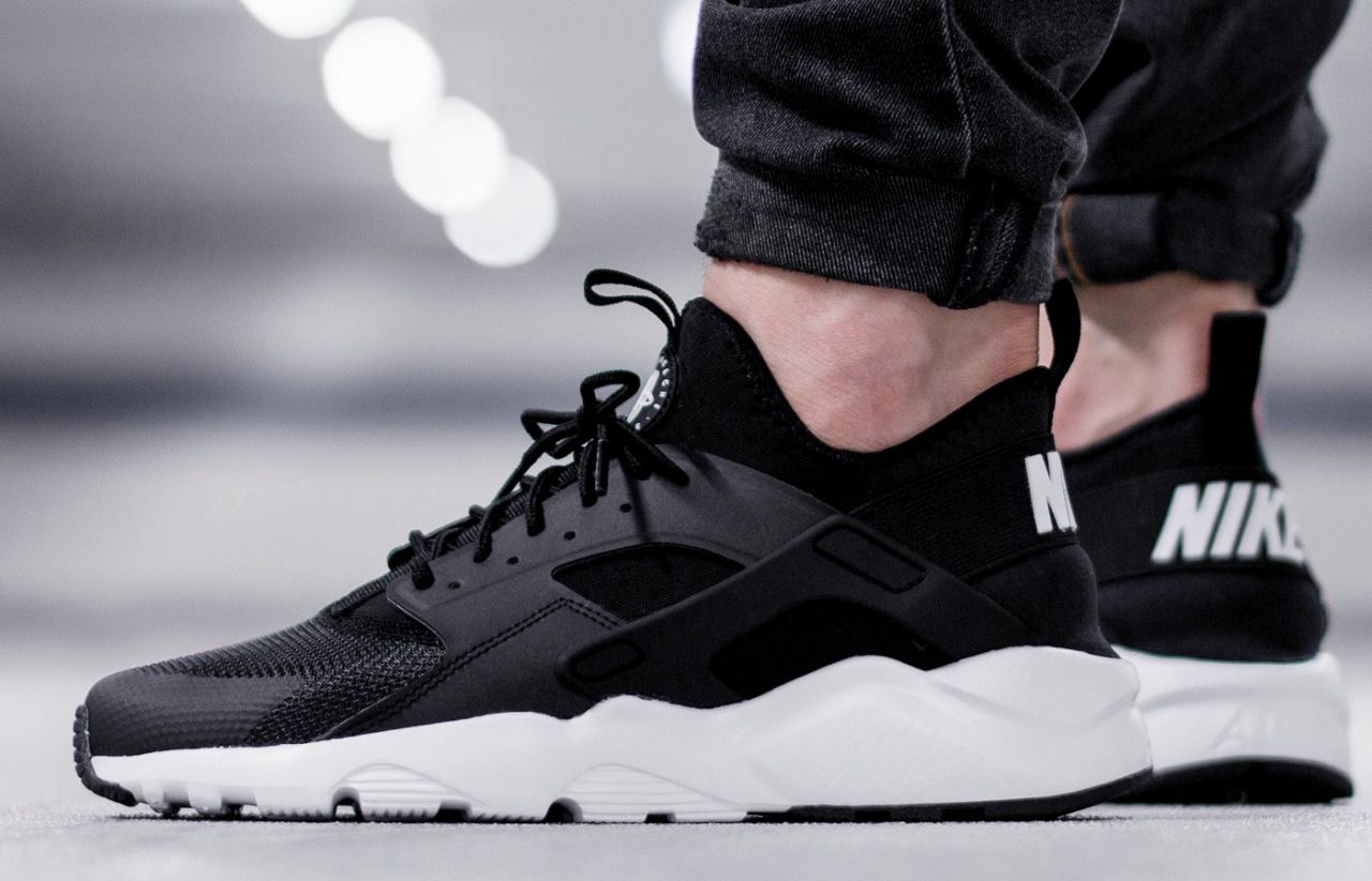 Nike Air Huarache Run Ultra 'Black & White' (via Kicks daily