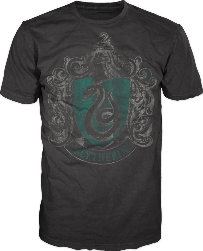 Harry Potter Slytherin Snake Black Ladies T-Shirt