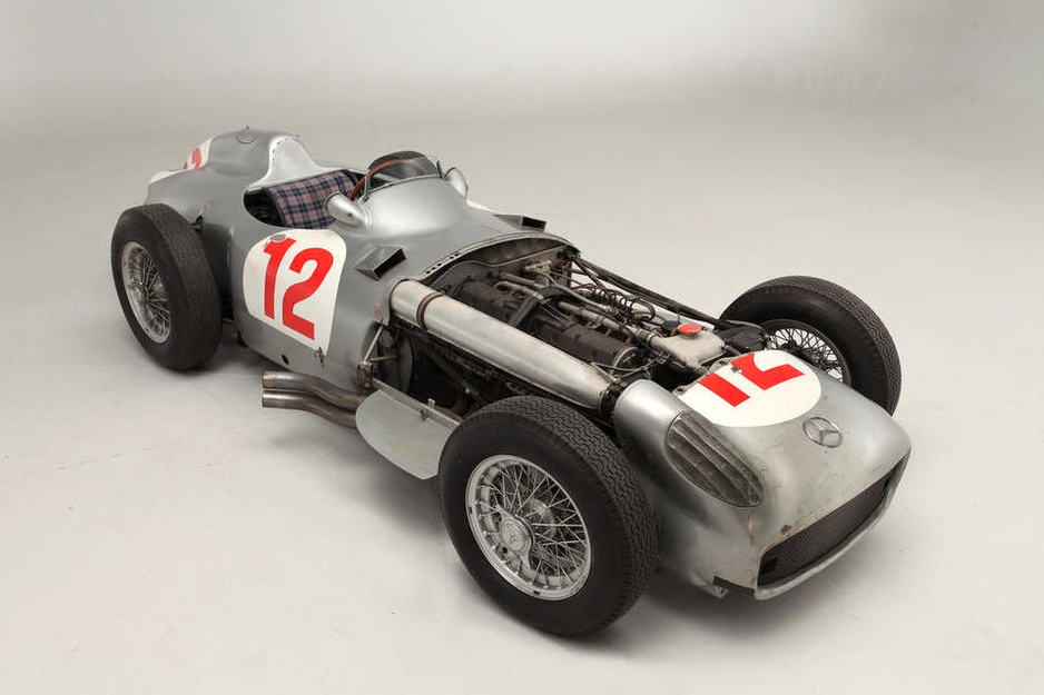 THE EX-JUAN MANUEL FANGIO, HANS HERRMANN, KARL KLING, GERMAN AND SWISS GRAND PRIX WINNING, 1954 MERCEDES-BENZ W196R FORMULA 1 RACING SINGLE-SEATER Chassis no. 196 010 00006/54 Sold for £19,601,500 (€23,228,654) inc. premium read the story:   320 via Bonhams.com