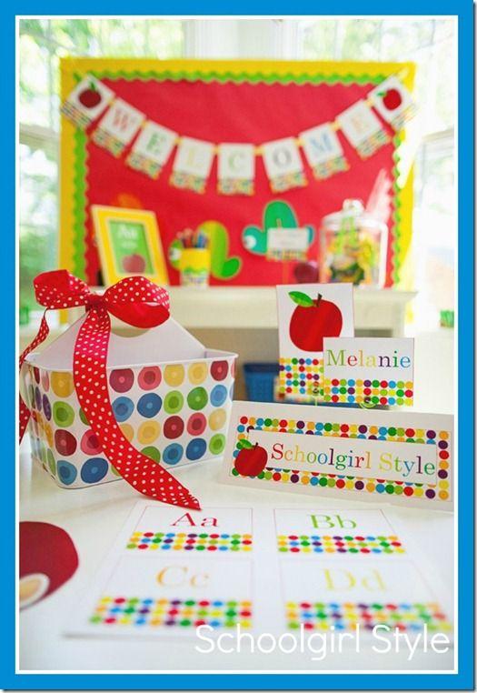 Classroom Decoration Primary : Primary classroom decor apple eric carle