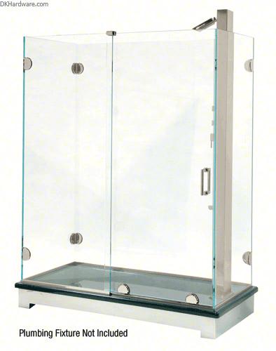 Crl Ess3bn Brushed Nickel Essence Series Basic Sliding Shower Door Kit With Squared Corner Rollers Shower Door Kit Sliding Shower Door Shower Sliding Glass Door