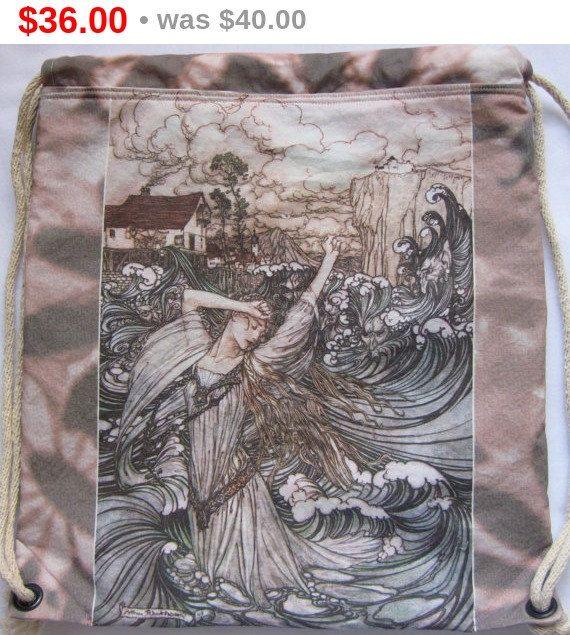 Holiday Sale Arthur Rackham Undine Mermaid by Craftyscientists