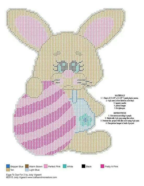 Easter bunny WH   Bookmarks   Pinterest   Lona de plástico, Lonas y ...