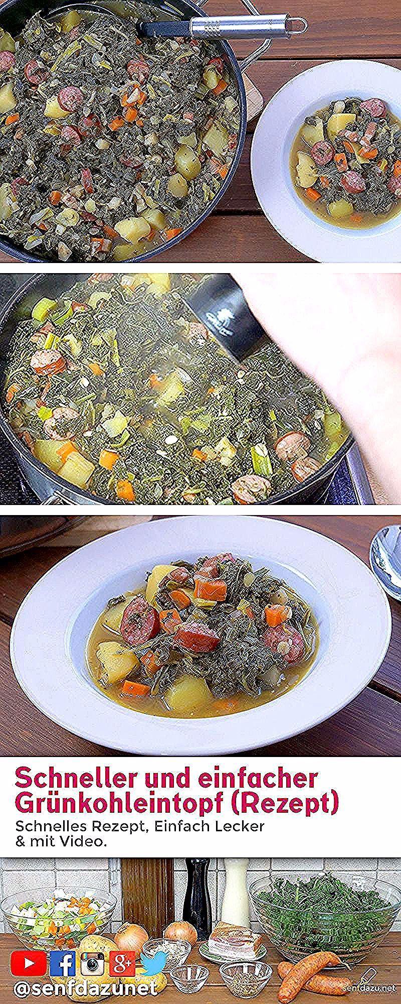 Eintopf Mit Grunkohl Suppengrun Mettwurst Und Speck Richtig Gut Food Vegetables Corn
