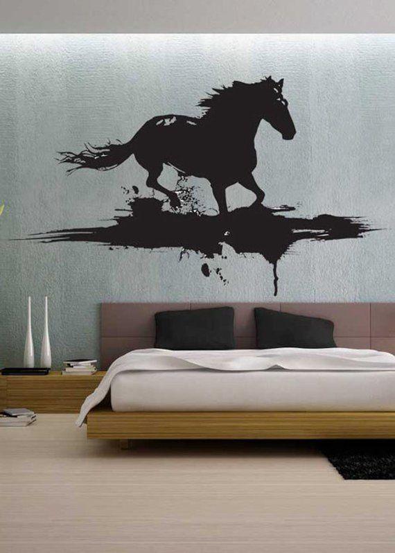 286a64fc6e0 Modern Horse - uBer Decals Wall Decal Vinyl Decor Art Sticker Removable  Mural Modern A267