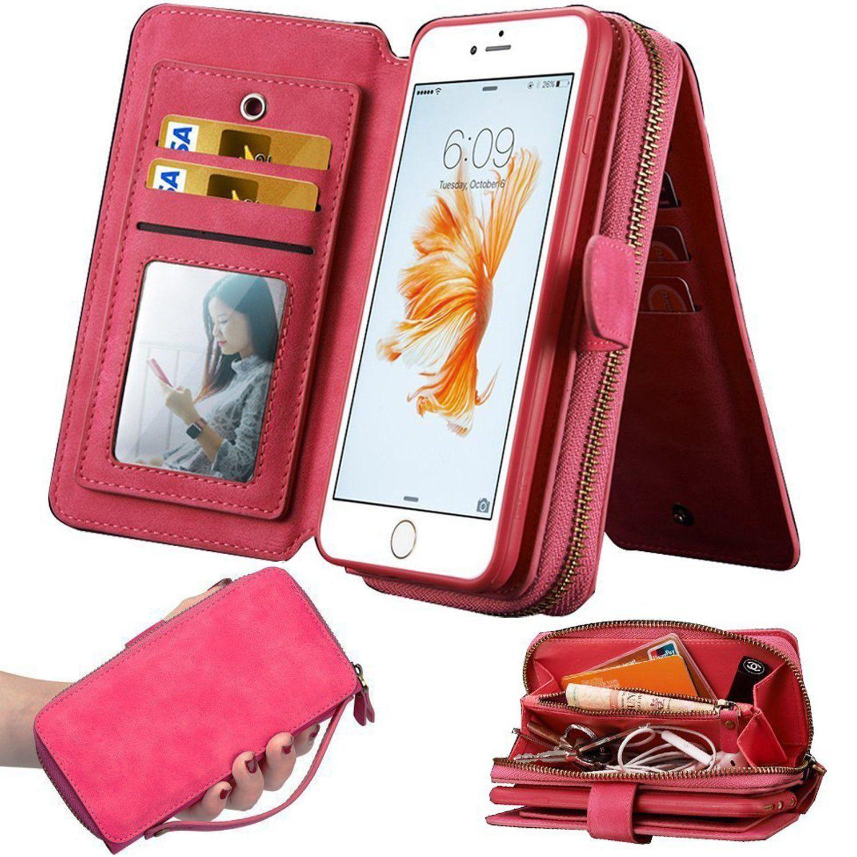 separation shoes 06dfd 74022 iPhone 7Plus Women's Case,iPhone 7 Plus Wallet Case,WOOZU Polka Dot ...