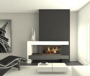Resultado de imagen de chimeneas modernas chimeneas - Figuras decorativas modernas salon ...