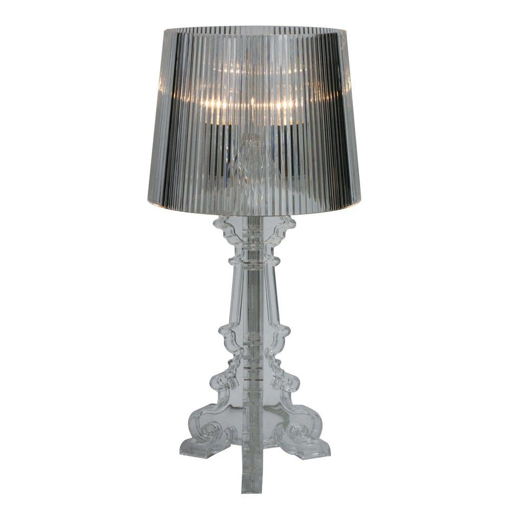 Stilnovo Tr80clear Clear Acrylic Baroque 3 Light Table Lamp In Clear Lamp Stylish Table Lamps Table Lamp
