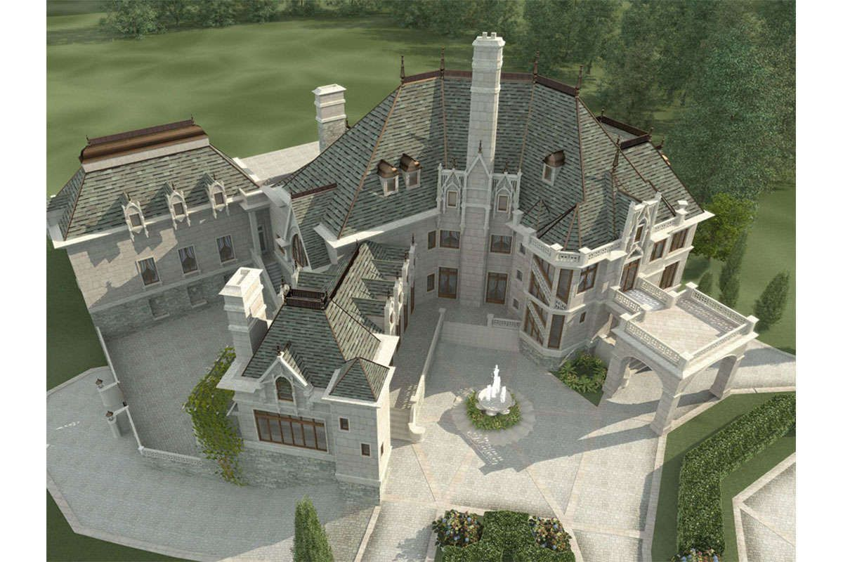 House Plan 4195 00018 Luxury Plan 7 394 Square Feet 6 Bedrooms 6 5 Bathrooms In 2021 Castle House Plans Luxury House Plans Castle House