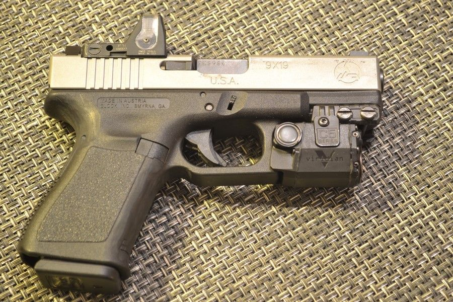 Glock 19 with Trijicon RMR and Viridian C5L | Firearms | Pinterest