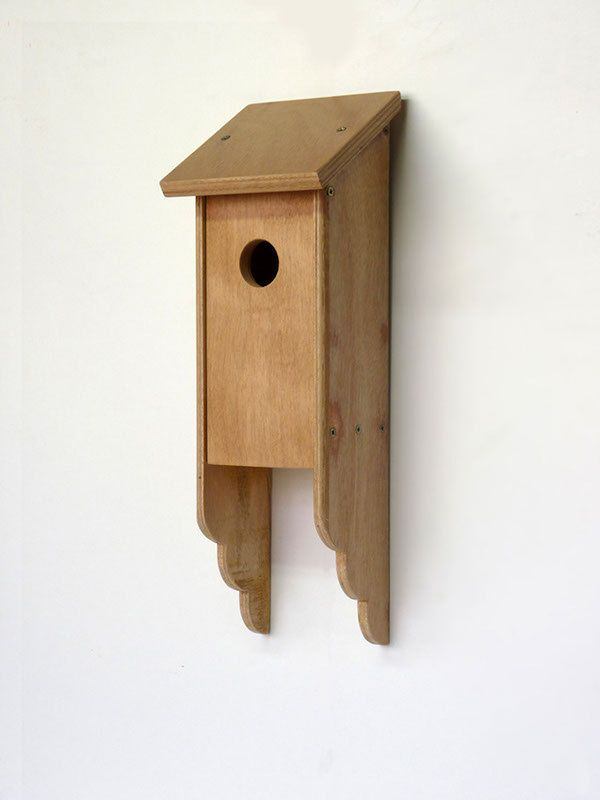 This is a birdhouse design. I would like to build this because I need a new birdhouse and this one is somewhat different from most.