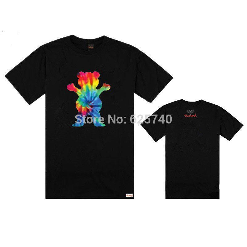 save off 79e64 5166b Cheap GRIP GRIZZLY x fuente del diamante camiseta del monopatín camisetas  hip hop encabeza nuevo 2014