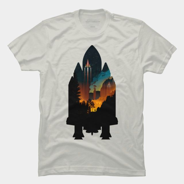 Fire In The Sky T Shirt By Itpro15 Design By Humans