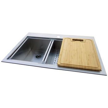 hahn kitchen sinks westinghouse handcrafted kitchen double bowl sink and work center