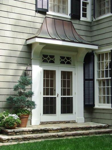 Buckhead Renovation 06 Side Door Pent Roof Detail By Spitzmiller Norris