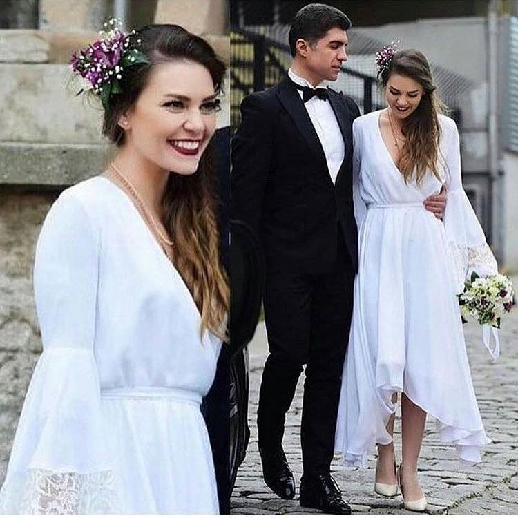 31 Begenme 6 Yorum Instagram Da Bybetulbutik Elbise 99 90 Tl Krinkel Kumas Astarli Ivory Bridal Gown Wedding Dress Styles Bohemian Wedding Dresses
