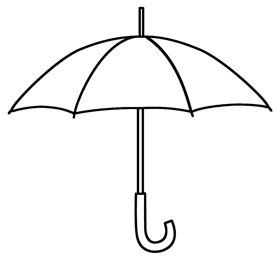 Umbrella Coloring Page Various Motives Umbrella Coloring Page Umbrella Template Umbrella