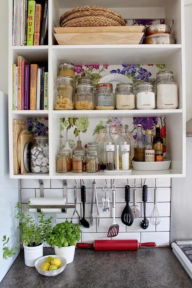 Kitchen Shelving Designers Guild Alexandria Wallpaper Finally Up Glamorous Kitchen Shelves Designs Inspiration