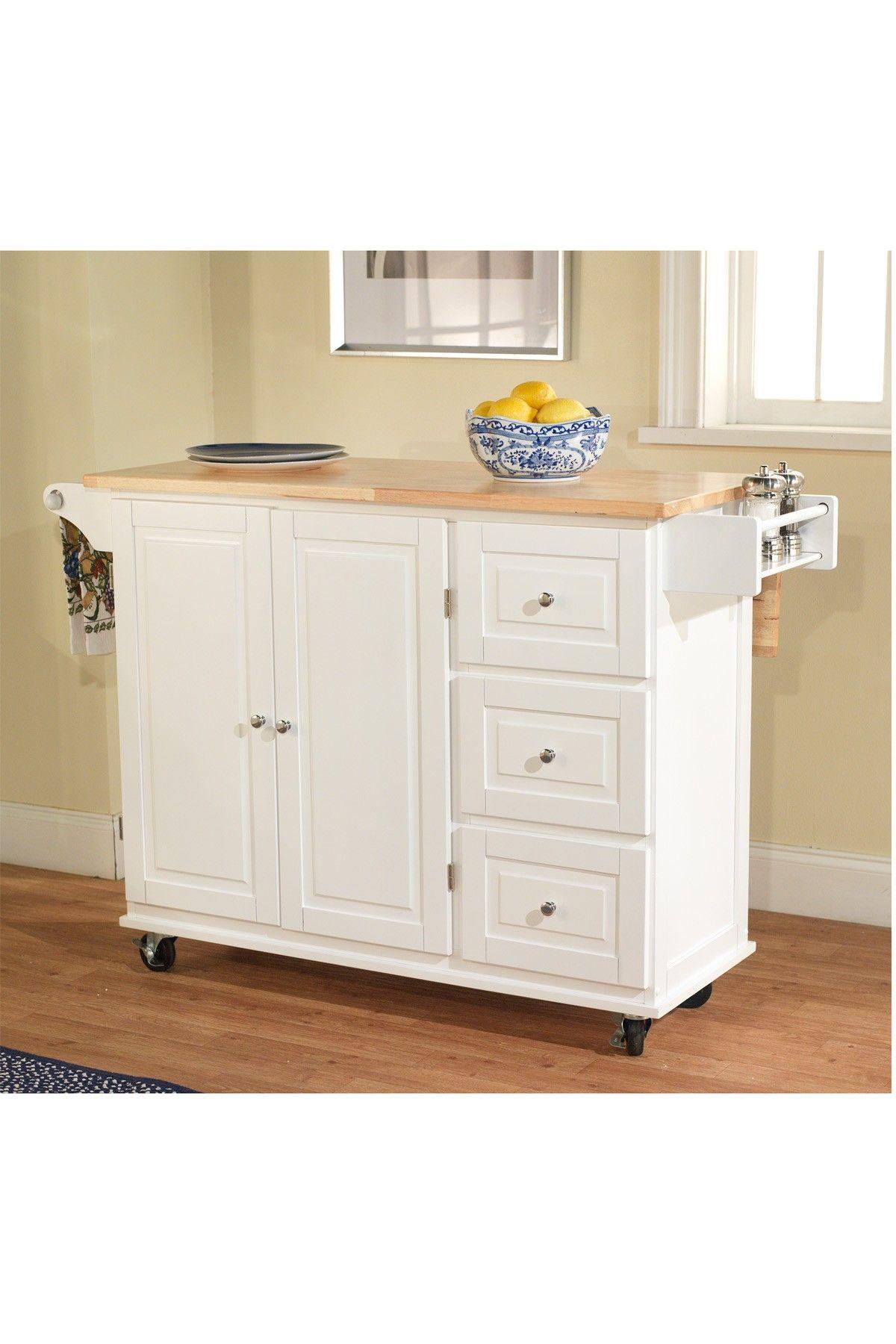 white sundance kitchen cart | kitchen cart, kitchen island