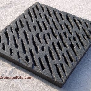 Catch Basin Grate Jonite 12inch Chiseled Charcoal Black Pr Basin Drain Cover Drainage Solutions