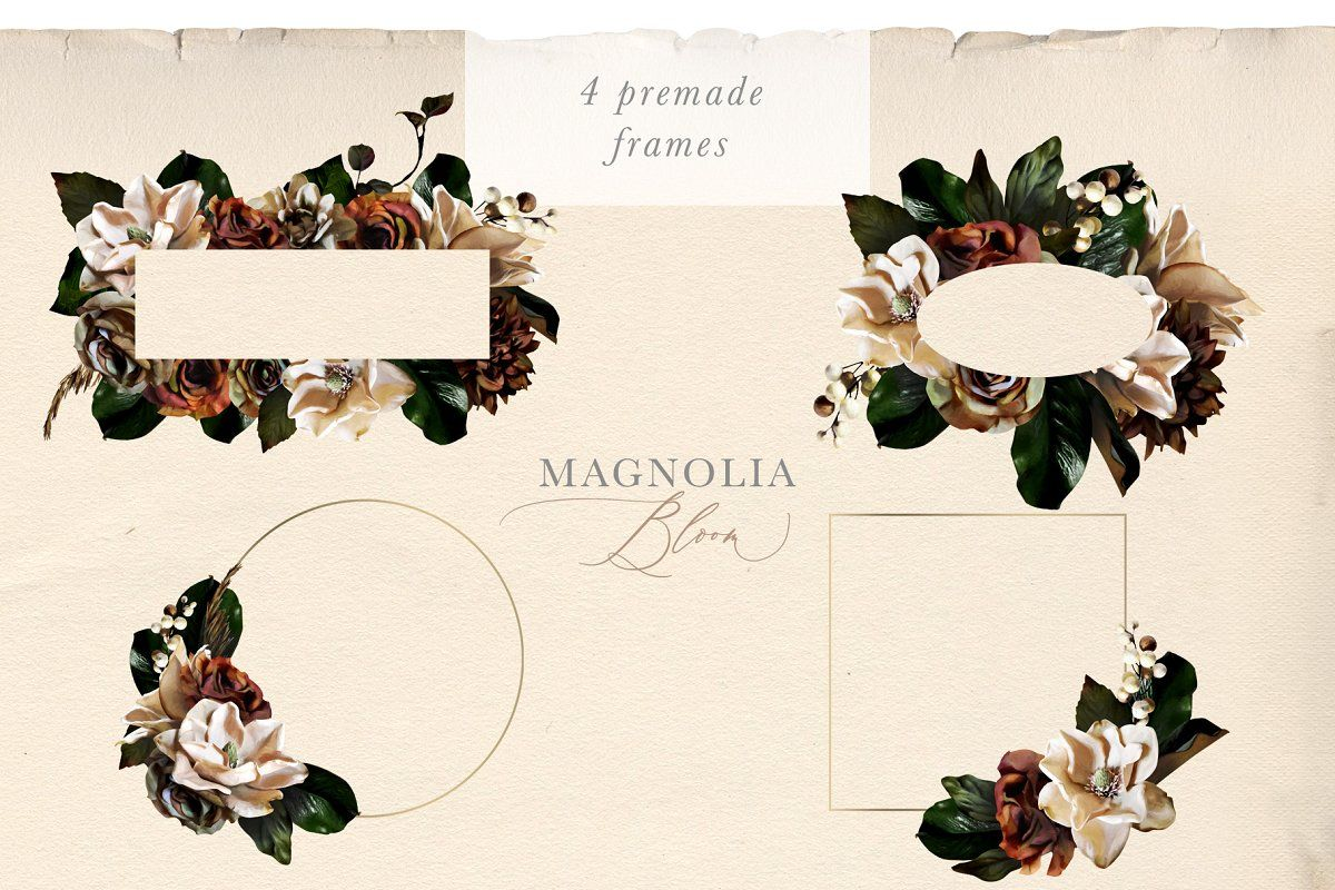 Magnolia Bloom Flowers Monograms Flower Logo Creative Graphic Design Free Graphic Design