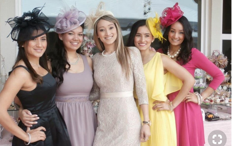 Pin By Flourish On Meg W Wedding Events Bridal Shower Attire Tea Party Attire Garden Party Outfit Dresses [ 744 x 1179 Pixel ]