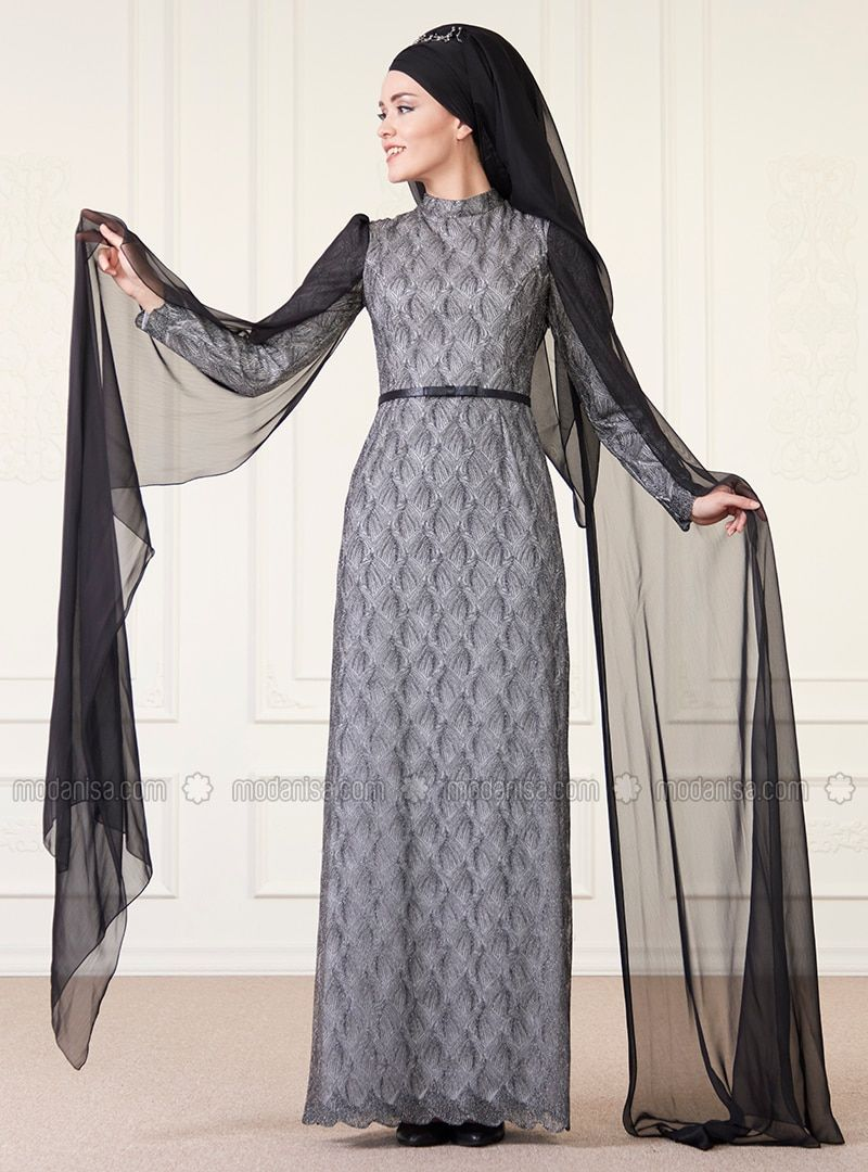 c4d86d1943e6 Black - Fully Lined - Crew neck - Muslim Evening Dress in 2019 ...