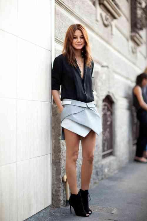 le style casual chic 32 tenues confortables pour femmes styl es jupe pinterest femmes. Black Bedroom Furniture Sets. Home Design Ideas
