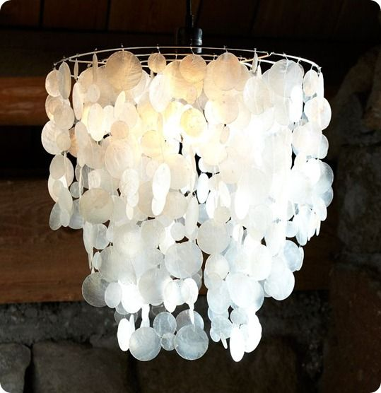 Wax paper chandelier diy projects pinterest paper chandelier wax paper chandelier aloadofball Image collections