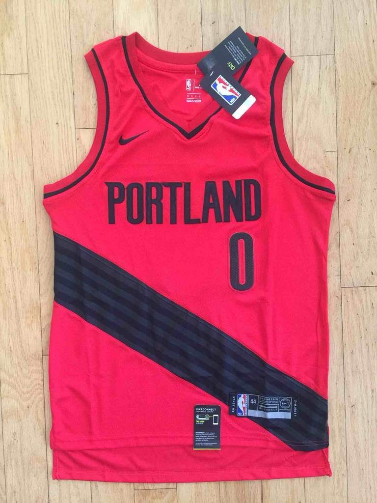 91b602a32 Men 0 Damian Lillard Swingman Jersey Red Portland Trail Blazers Fanatics