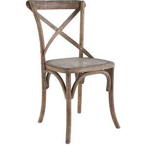 Oak X Back Chair | Weathered Finish | Wisteria
